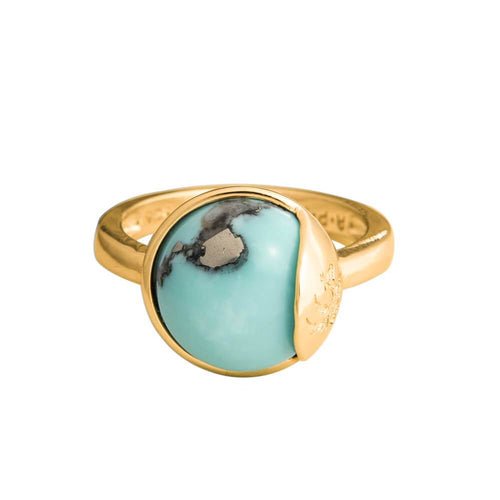 TRO Ring forgyldt - Turquoise - A PURE MIND