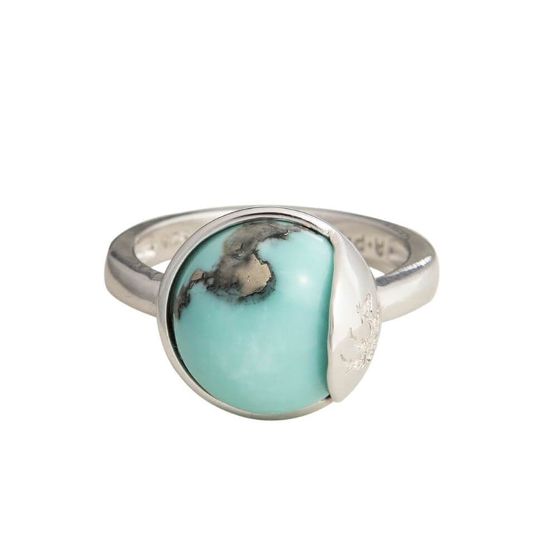 TRO Ring sølv - Turquoise - A PURE MIND