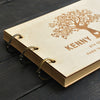 Exquisite Personalized Engraved Wooden Wedding A5 Guestbook