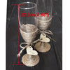 Personalized Rustic Wedding Glasses Set - Champagne Toasting!
