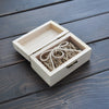 Rustic Personalized Wooden Wedding Ring Bearer Box