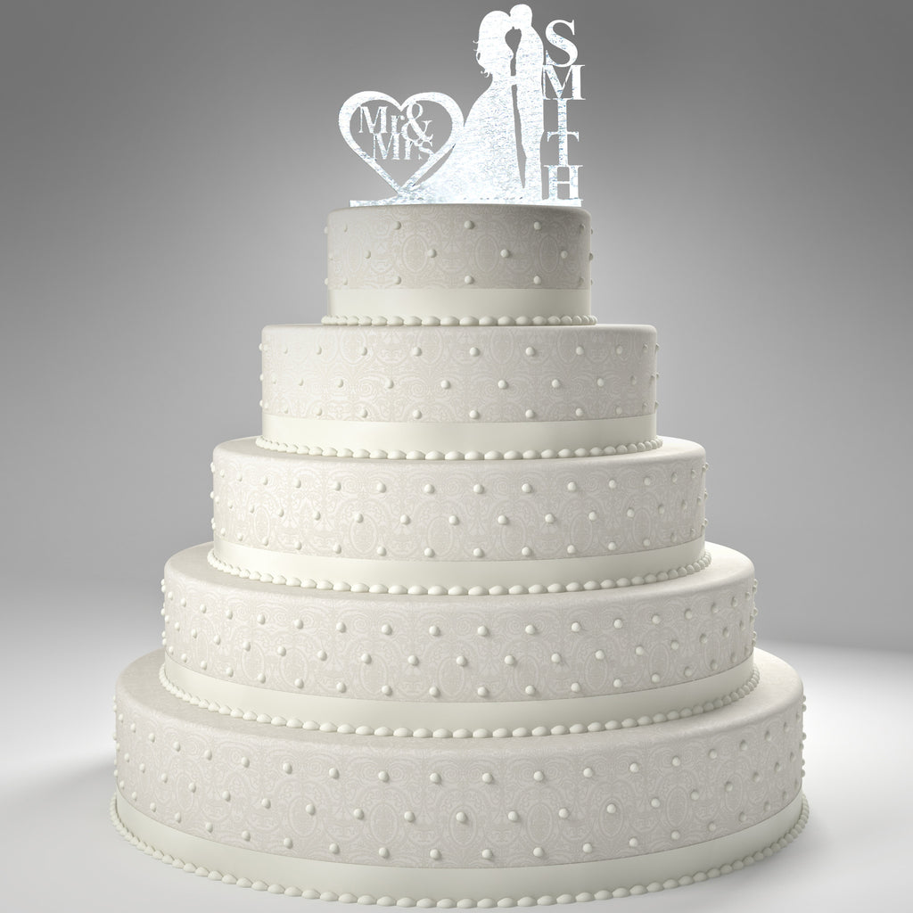 Personalized Wedding Cake Topper + 5 FREE Gifts!