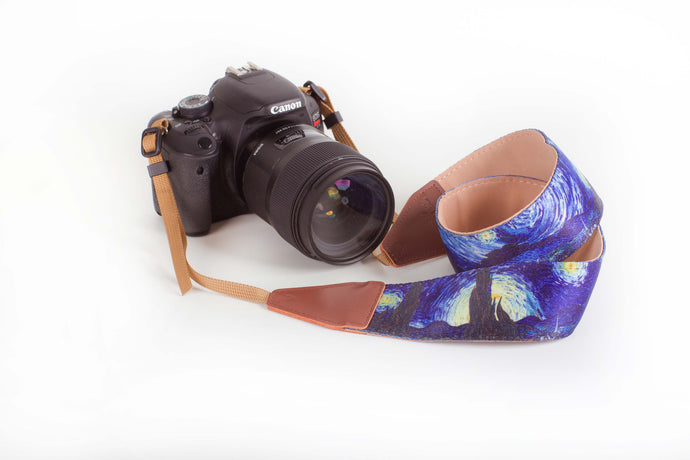 Camera Strap with Artistic & Vibrant Design - DSLR Neck Shoulder Camera Belt - Starry Night