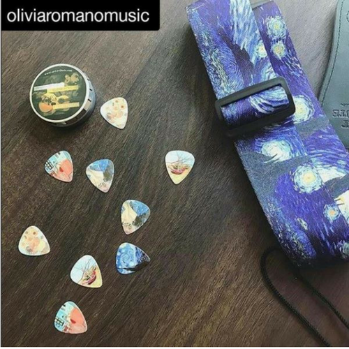 Van Gogh gift guitar strap and Picks