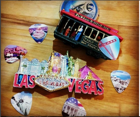 USA National landmarks guitar picks