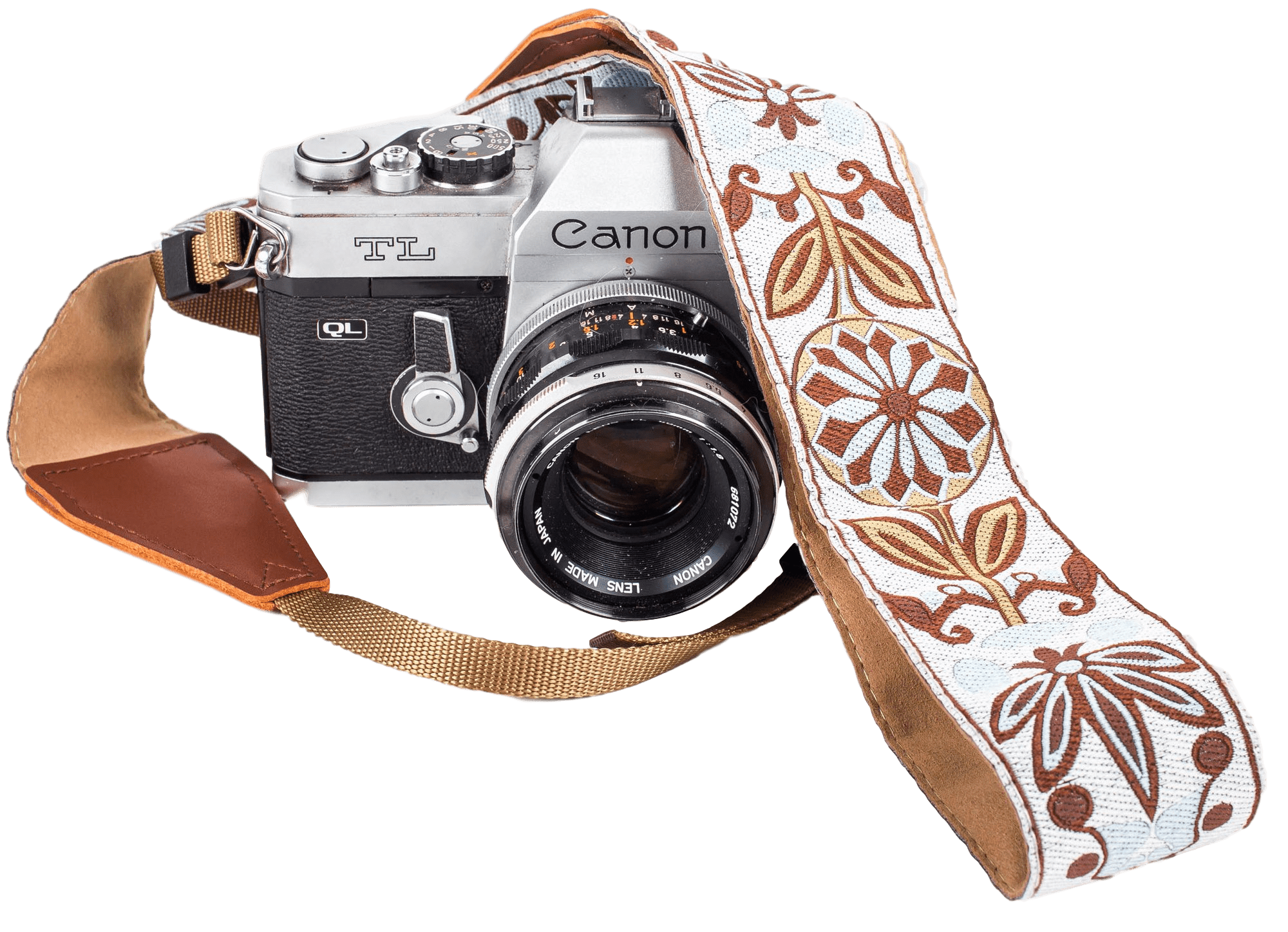 White Woven Camera Strap - Art Tributes