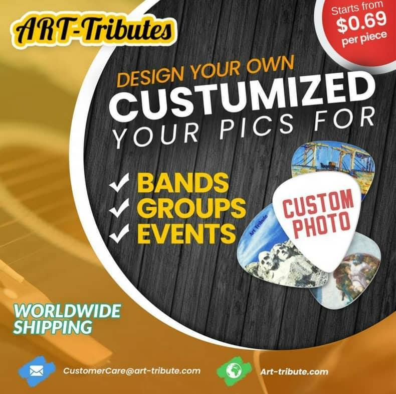 Custom Guitar Picks - 100pcs personalized guitar picks - Art Tributes