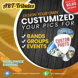 Custom Guitar Picks - 100pcs personalized guitar picks - Art Tribute