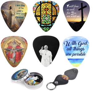 Christian Guitar Picks Set Bible Inspired and Meaningful Messages - Art Tribute