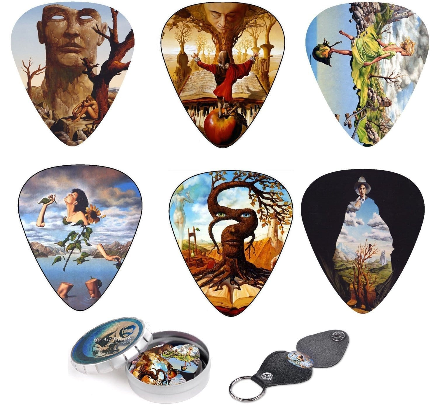 Surreal Art Guitar Picks Inspired By Salvador Dali - Art Tributes