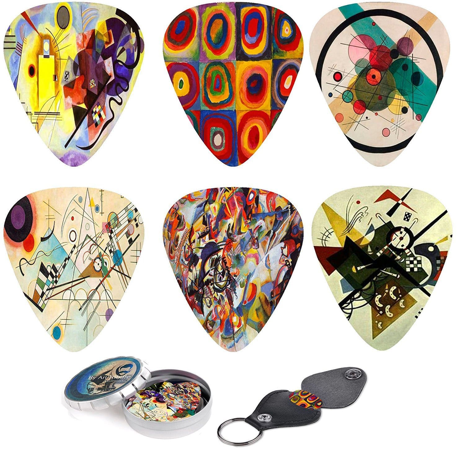 Abstract Art Guitar Picks - Wassily Kandinsky Unique Plectrum - Art Tribute