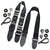 2 Guitar Straps Set - B&W Guitar Strap + Black Guitar Strap - Art Tributes