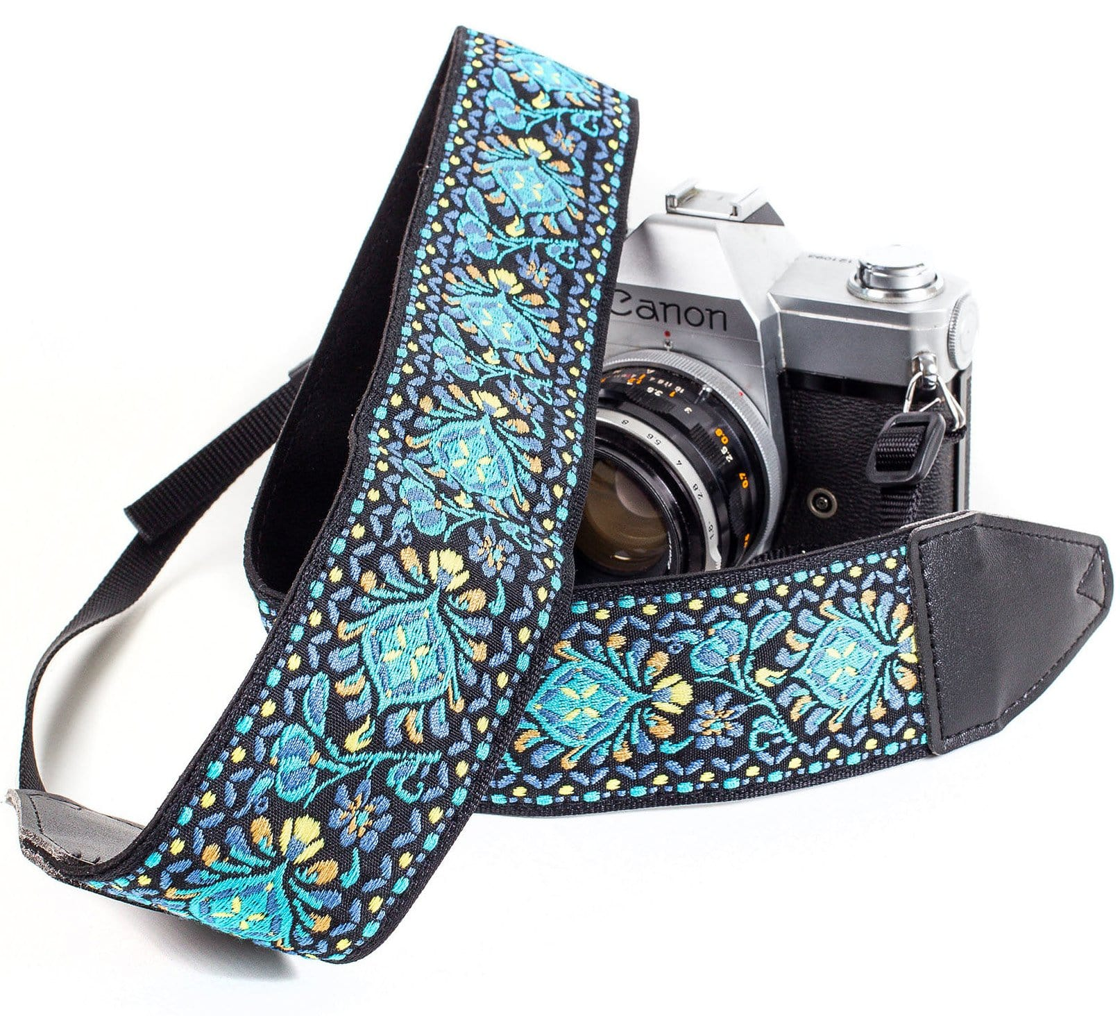 Blue Woven Vintage Camera Strap - Art Tributes