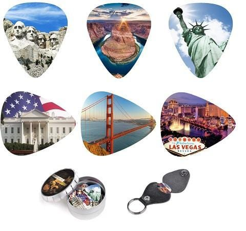 America's Great National Landmarks Guitar Picks Best gift for guitar player - Art Tributes