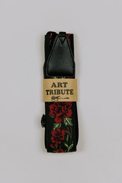 Red Roses Camera Strap
