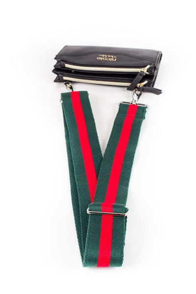 Gucci Style Red Green Handbag Strap