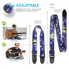 2 Van Gogh Guitar Strap Sets - Starry Night & Sunflowers