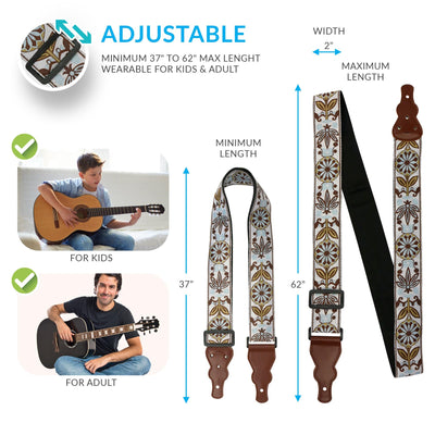 Vintage Woven Guitar Strap - Art Tribute
