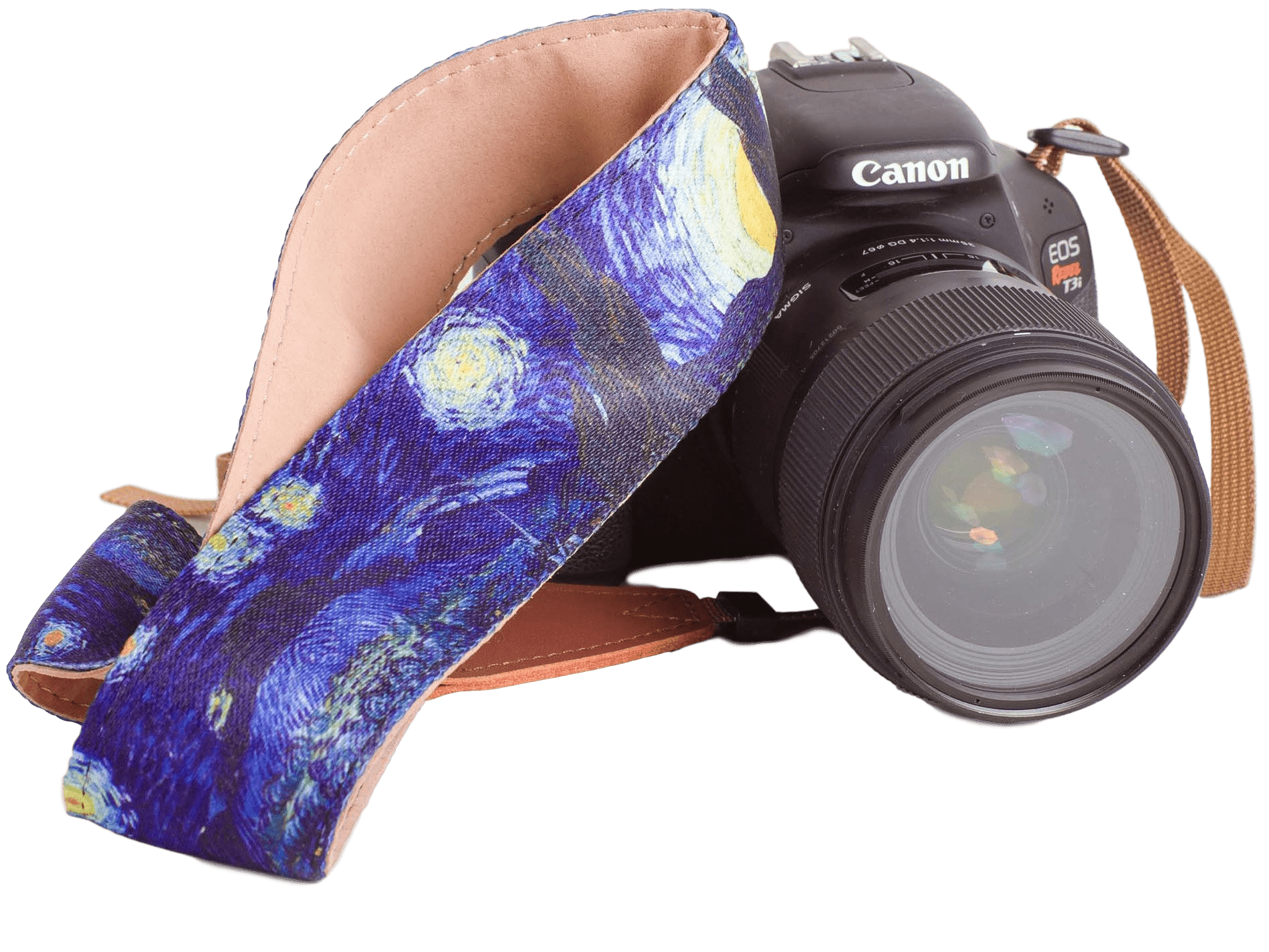 """Starry Night"" Camera Strap by Vincent Van Gogh - Art Tributes"