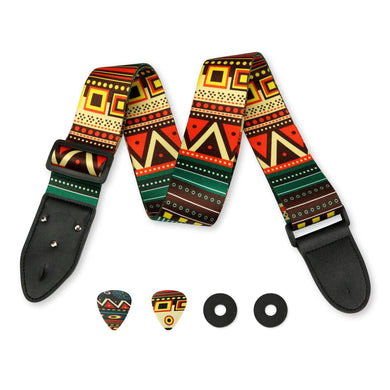 Aztec Colors Guitar Strap - Art Tribute