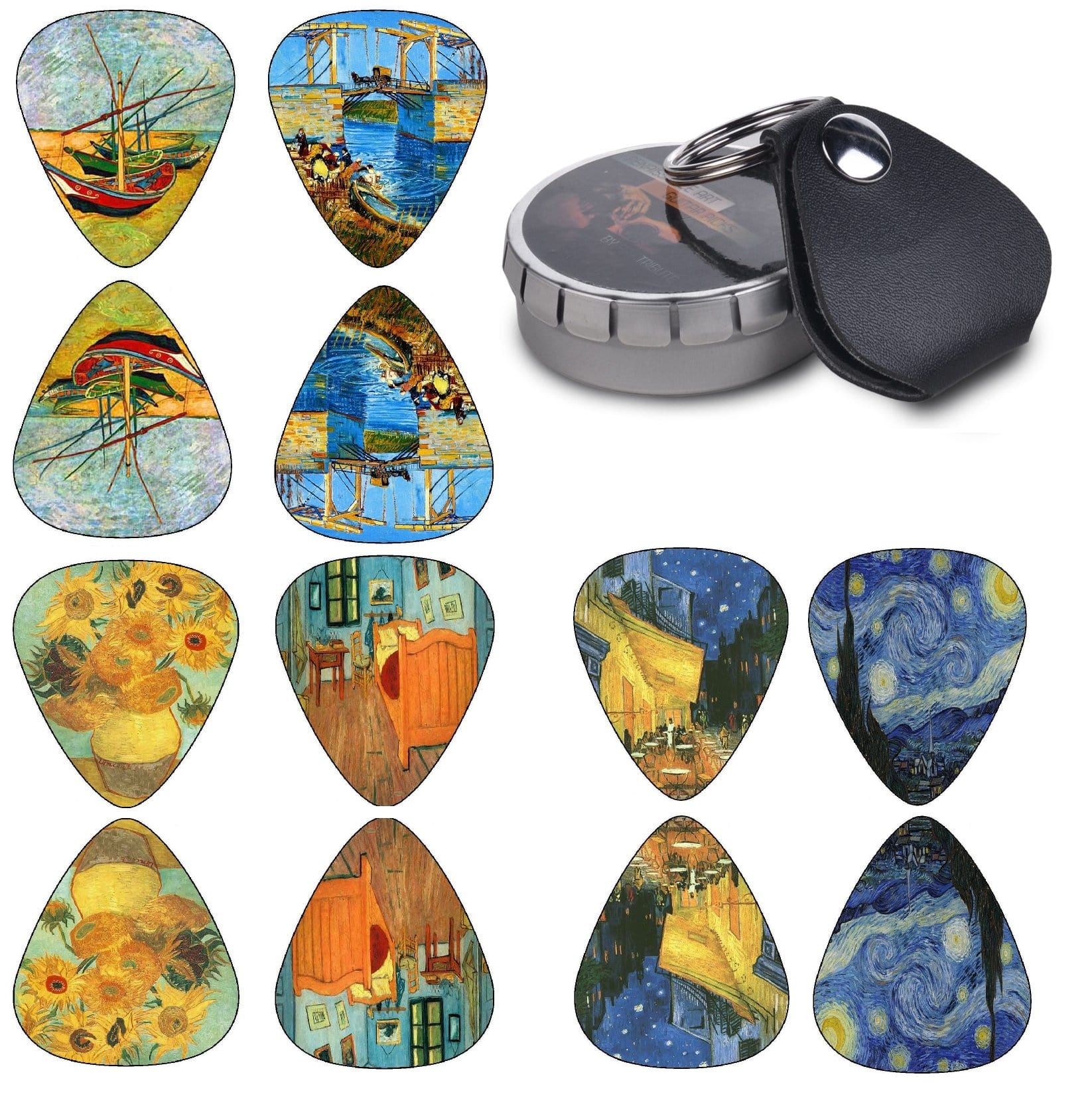 Vincent Van Gogh Guitar Picks - Premium Set 12 Pack - Art Tributes
