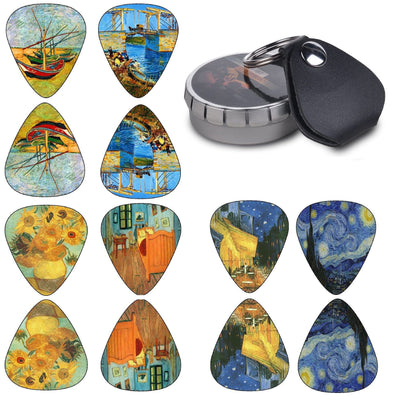 Vincent Van Gogh Guitar Picks - Premium Set 12 Pack