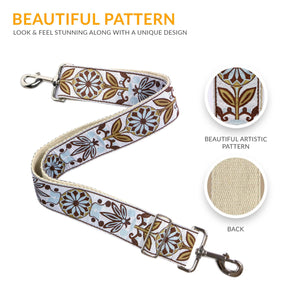 White Woven Handbag Strap - Art Tribute
