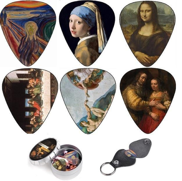 Renaissance Guitar Picks Most Famous Artworks - 12 Pack - Art Tributes