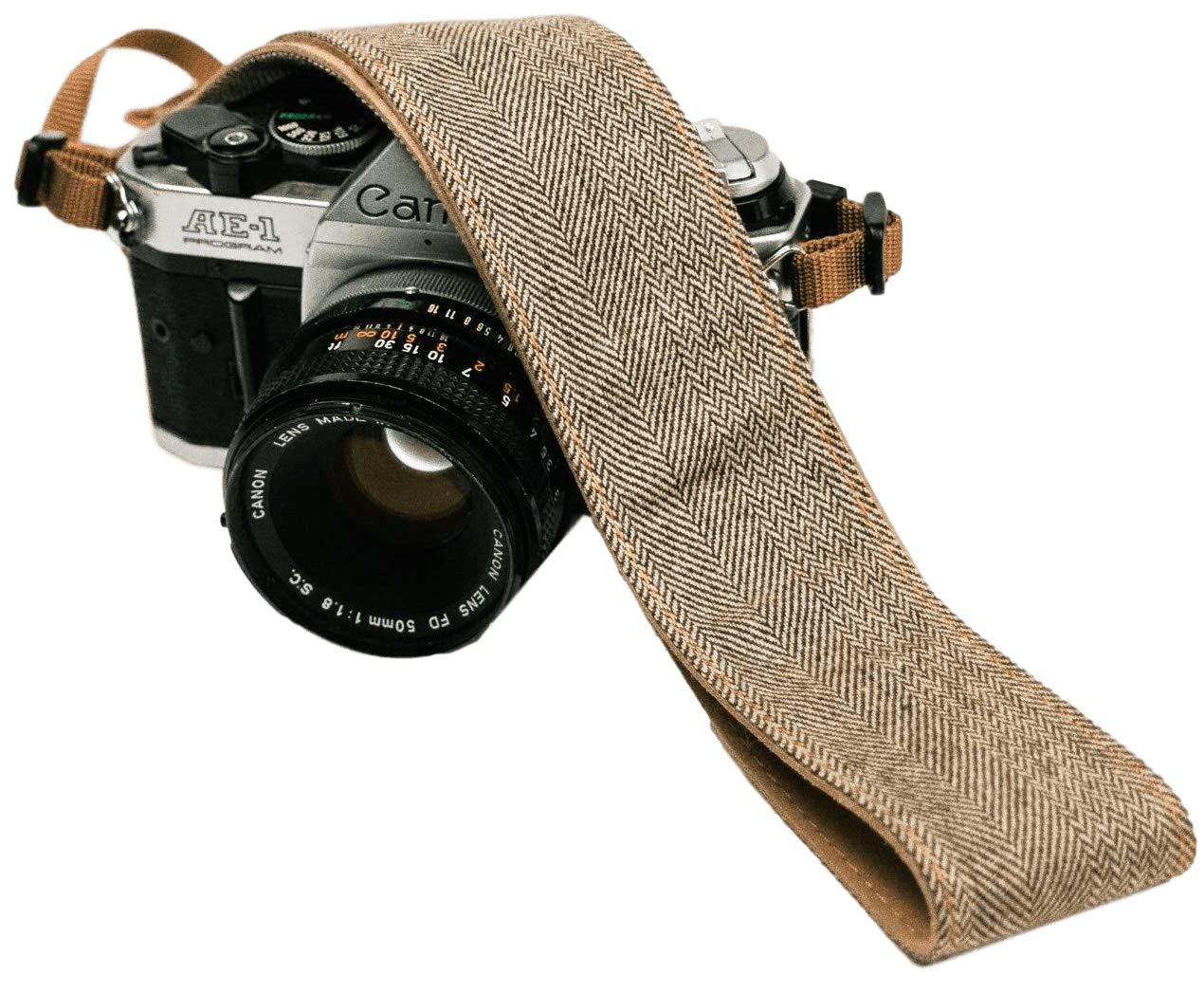 Brown Denim Camera Strap - Art Tributes