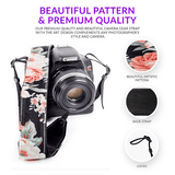Flower Camera strap For Canon, Nikon and Sony. - Art Tribute