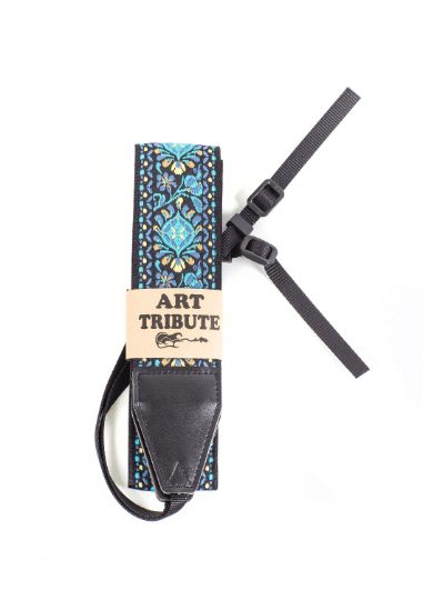 Blue Woven Vintage Camera Strap - Art Tribute