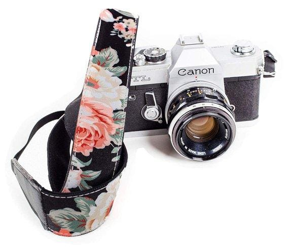 Flower Camera strap - Art Tributes