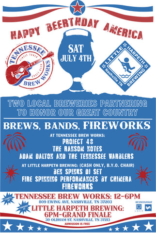 Little Harpeth Brewing 4th Of July 2015 Tennessee Brew Works
