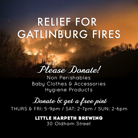 Little Harpeth Brewing Gatlinburg Fire Relief