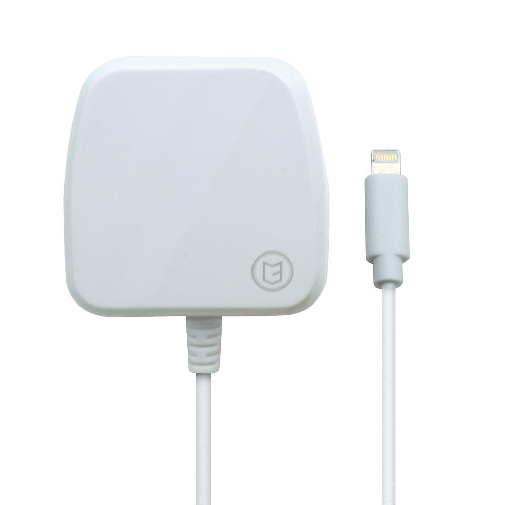 C3 2Amp iPhone Lightning Mains Charger - White