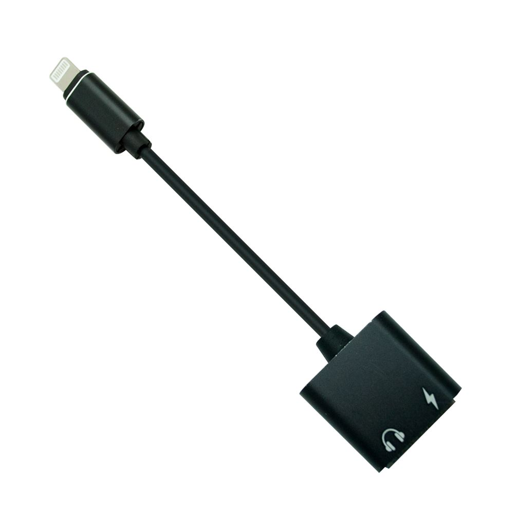 C3 iPhone Headphone Adapter to 3.5mm Jack Aux Audio Adapter Cable - Black
