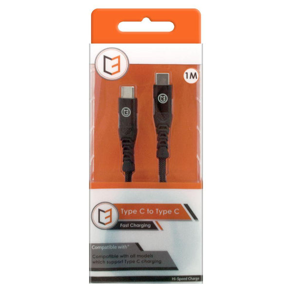 C3 Type-C To Type-C Braided USB Cable - Black