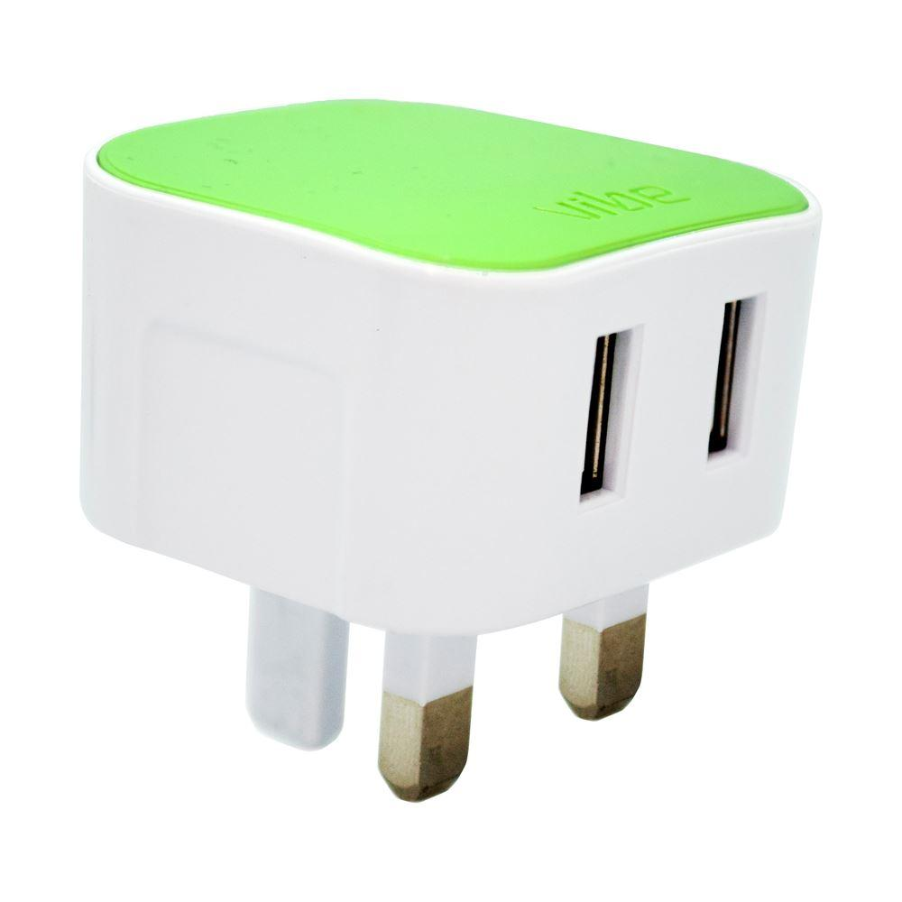 M5 Dual Mains Charger 3.1A Output by  Vibe Centre