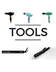 Professional hairdryers, curling irons and straightners