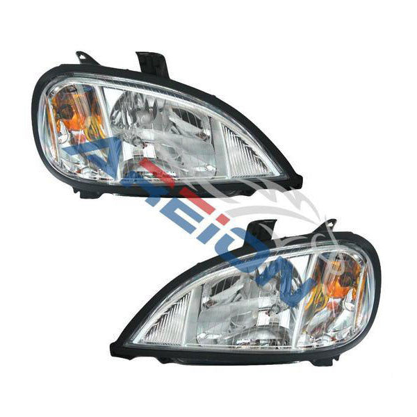 Freightliner columbia headlights come with a chrome housing for a stylish appearance