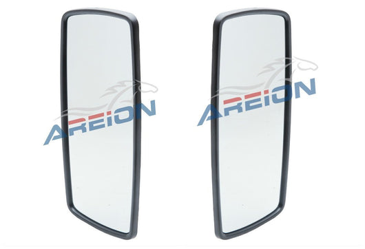 Freightliner Columbia Mirror Upper Glass Assembly | Black Cover | 2002-2011 Trucks | Areion
