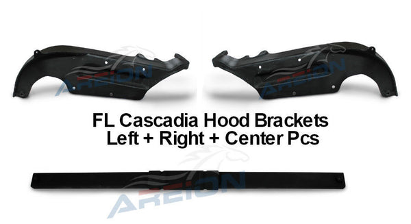 Freightliner Cascadia Truck Hood Brackets Left & Right Side W/ Crossmember