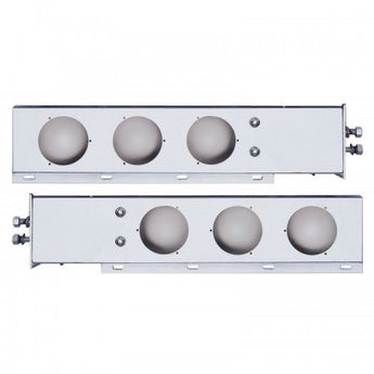 Stainless Steel Spring Loaded Light Bar w/ Round Cutout 3 3/4