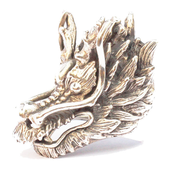 Large Bronze Dragon Ring Highly Detailed and Well Balanced Medieval Ring