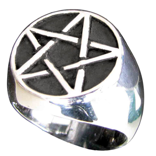 Sterling Silver Pentacle Ring Celtic Pentagram Overlapping Lines Symbol Wiccan Jewelry  Apps   Save