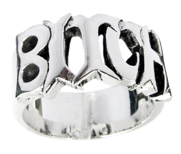 A Bitch Ring Sterling Silver 925 Word Ring