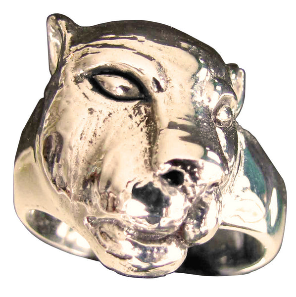 Female Lion Ring Lioness in Bronze
