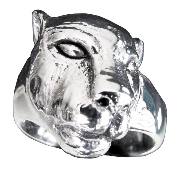 Female Lion Ring Lioness in Sterling Silver 925