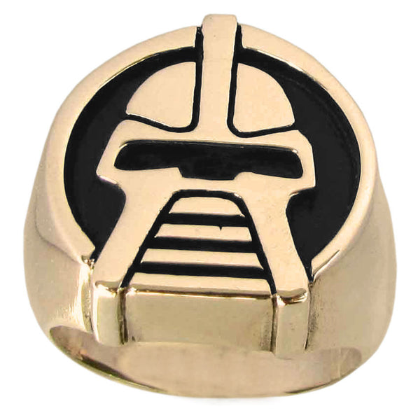 Battlestar Gallactica Cylon Ring, Solid Bronze