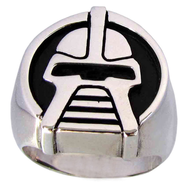 Battlestar Gallactica Cylon Ring, Solid Sterling Silver 925